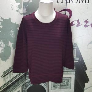 Lou & Grey Striped Knit Top Size L